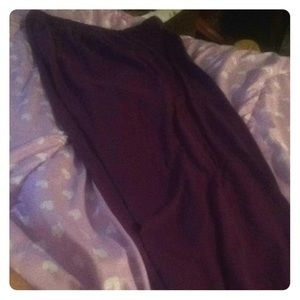 Purple pants.